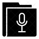Microphone Folder Recording Folder Icon