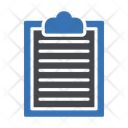 Clipboard Records Document Icon