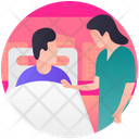 Recover Patient Ward Checking Patient Checking Icon