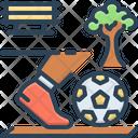 Recreation Zone Kickball Activity Icon