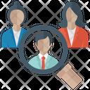 Searching Candidate Hiring Employe Human Resource Icon