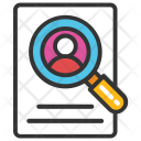 Recruitment Search Magnifier Icon