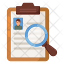 Recruitment Employee Search Candidate Search Icon