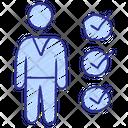 Check Employee Recruitment Icon