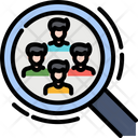 Recruitment Research Magnifier Icon