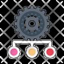 Recruitment Cogwheel Human Icon
