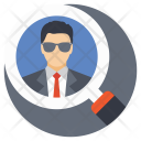Person Man Magnifying Icon