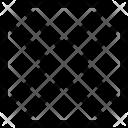Rectangle Quarter Pattern Icon