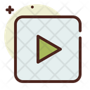 Rectangle Videoplay Video Icon