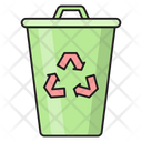 Recycle Garbage Dustbin Icon