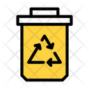 Recycle Dustbin Basket Icon