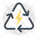 Recycle Electricity Sign Icon