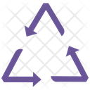 Recycle Arrows Trash Bin Icon