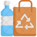 Recycle Bag And Water Icon