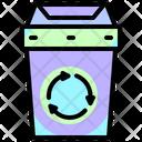 Recycle Bin Trash Plastic Icon