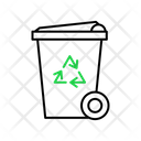 Outline Style In Green And Black Color Icon