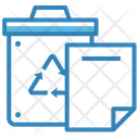 Recycle Bin Paper Document Icon