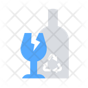 Glass Recycle Garbage Icon