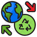 Recycle Earth Recycle Globe Global Transfer Icon