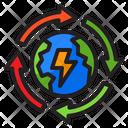 Recycle Global Global Energy Earthday Icon