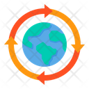 Recycle Globe Save The Planet Ecology Icon