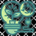 Recycle Green Energy Green Energy Bulb Icon