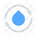 Water Recycle Drop Icon