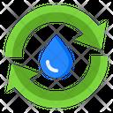 Recycle Water Trash Bin Icon