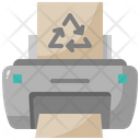 Recycled Paper Printer Print Icon