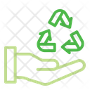 Recycling Hand Ecology Icon