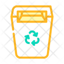 Recycling Garbage Can Icon