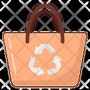 Renewable Bag Recycling Bag Reuse Bag Icon