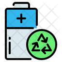 Battery Recycle Eco Icon