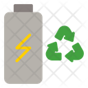 Battery Charging Waste Icon
