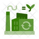 Recycling factory Icon