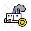 Garbege Recycling Factory Icon