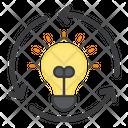 Recycling Idea Reload Idea Repeat Idea Icon