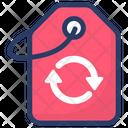 Recycling Tag Label Leaf Icon