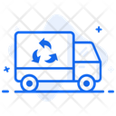 Waste Management Recycling Van Waste Truck Icon