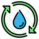 Drop Water Cycle Icon