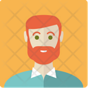 Red-haired bearded man Icon