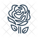 Red Rose Bloom Icon