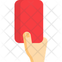Red Card Soccer Football Icon