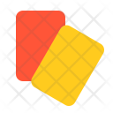 Card Red Yellow Icon