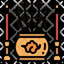 Redcandlechineseandincense Pray Tradition Icon