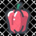 Red Capsicum Vegetable Organic Icon