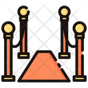 Red Carpet Cordon Entrance Icon
