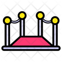 Red Carpet Entrance Cinema Barrier Icon