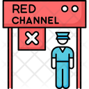 Airport Terminal Red Icon