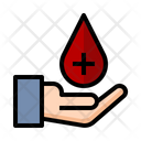 Red Cross Blood Drop Healthcare Icon